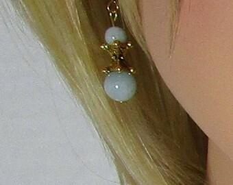 Aquamarine Earrings, Mint Earrings, Gemstone Jewelry, Drop Earrings - Dangle Earrings