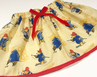 Paddington bear skirt set including matching hair bow