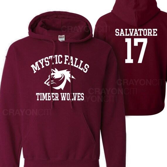 Vampire Diaries Mystic Falls Timberwolves Hoodie Salvatore 17 7UdBxoej