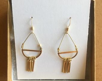 Minimal Brass Chandelier Earrings
