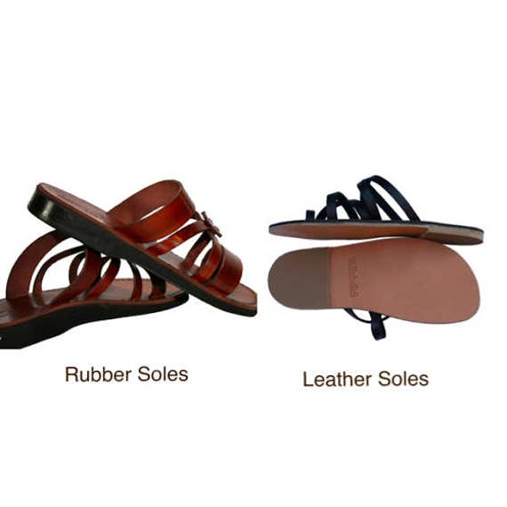 amp; Unisex Women Flop Leather Wave Brown For Sandals Flip Sandals Sandals Leather Sandals Sandals Men Handmade Genuine Jesus nYf8nXq4