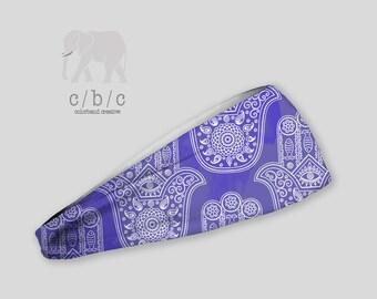 Hamsa Headband, Purple Headband, Thin Headband, Wide Headband, Yoga Headband, Turban Headband, Indie Headband, BOHO headband, Custom