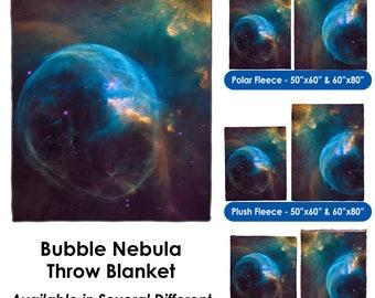Bubble Nebula - Throw Blanket