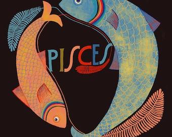 Pisces Zodiac Symbol -  Lisa Congdon Archival Art Print