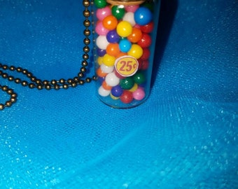 Gumball Glass Vial Necklace