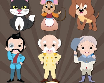 Cinderella add-on characters clipart