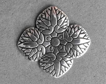 Sterling Silver Hollyhock Leaves - Small Pendant - C643