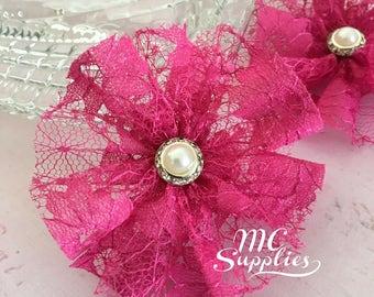 2 pcs,Ballerina flowers,flower girl flowers,hair clip accessories,hair flowers,bridal flowers,headband flowers,baby headband flower,81