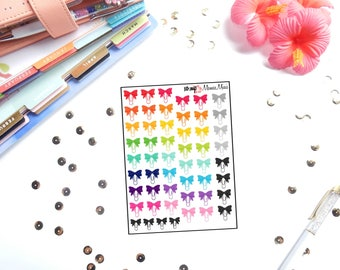 Mamas Minis - Bow Paperclip Planner Stickers | Perfect for any planner | Travelers Notebooks