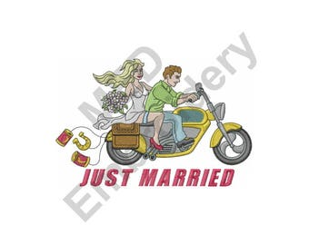 Just Married - Machine Embroidery Design