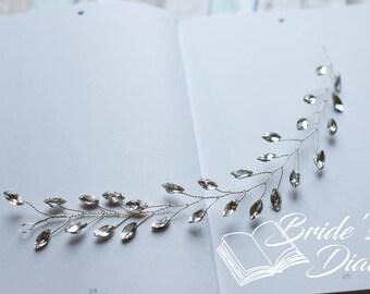 Bridal Wreath, short headband, wedding hair accessories, confirmation hair accessories