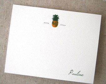 Pineapple Personalized Cards, Welcome, Thank You, New Home Cards, Business Notes, Realtor's Note Cards, Realtor Gift, Stationery, Name