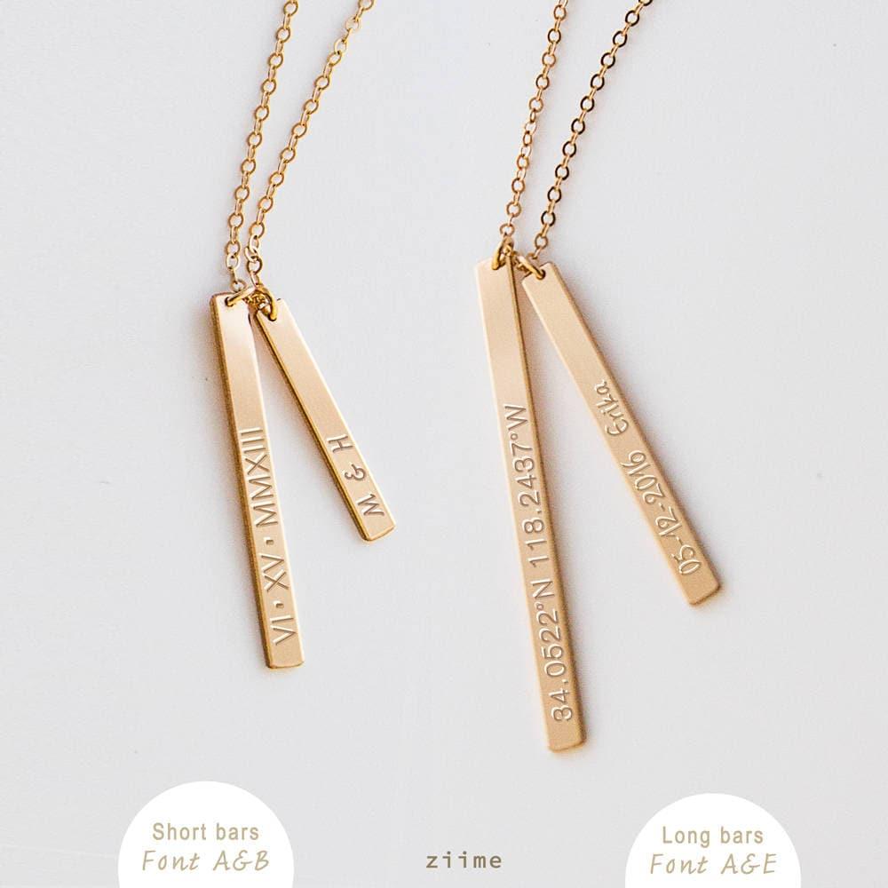 Benutzerdefinierte Bar Halskette personalisierte Geschenk