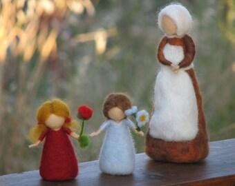 Needle Felted Root children - Sibylle von Olfers Inspired