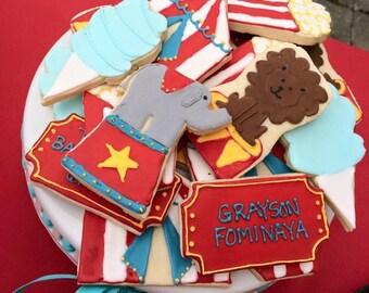 Circus/Carnival Sugar Cookies