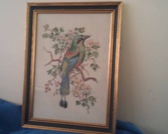 Vintage Tapestry of a Bird