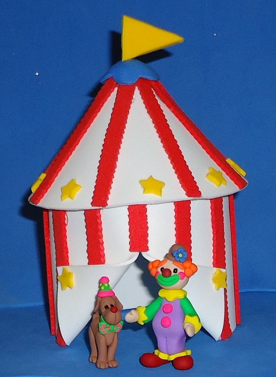 & Foam Big Top Circus Tent Cake Topper