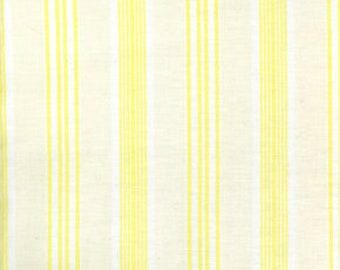 "Darla Collection Ticking Fabric Yellow by Tanya Wheelan - 44"" wide - by the yard"