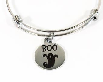 Boo Ghost Bracelet, Halloween Ghost Bracelet, Halloween Bracelet, Halloween Jewelry, Ghost Jewelry,  Halloween Costume Gift, Ghost Gift