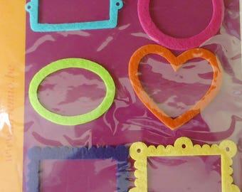Lot 6 shapes frames decorative Artemio felt
