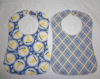 2 Triple Layer Chenille Burp Cloths
