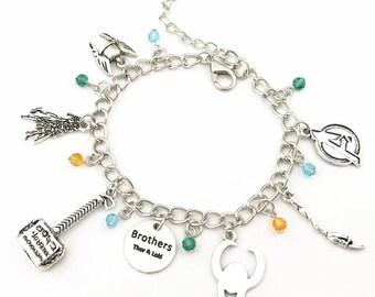 Thor and Loki inspired cahrm bracelet Avengers