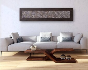 Textured Wall Panel - 3D Wall Art - Wood Wall Decor - Wall Sculpture - Textured Painting - Beige Brown Wall Panel