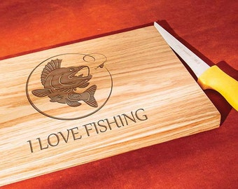 Gift for Dad Fathers Day Cutting Board Fathers Day Gift fisherman Fishing Gift fisherman gift gifts for him cutting board for father fishing