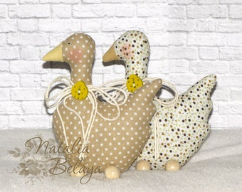 Tilda goose. Set of 2 pcs. Easter goose. Easter decoration. Easter gift. Easter toy. Stuffed toy. Inerior toy. Animal toy.
