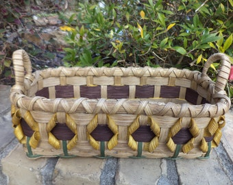 Sunflower Bread Basket Sunflower Basket Kitchen Basket Handwoven Basket Sunflowers Made in USA