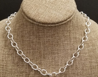 Sterling Silver Chain With Keyless Lock Pendant