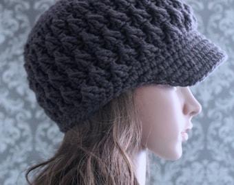 Crochet PATTERN - Crochet Hat Pattern - Crochet Pattern Hat - Newsboy Hat - Crochet Pattern Women - Baby, Toddler, Child, Adult - PDF 343