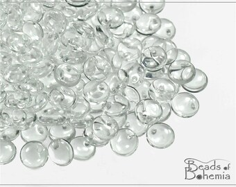 Crystal Czech Lentil Beads 6 mm, 50 pcs (7417)