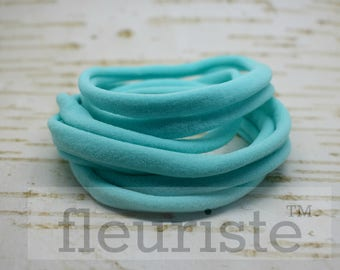Aqua Nylon Headbands, Nylon Baby Headband, Nylon Headbands Wholesale DIY Headbands Baby, Soft Stretch Head Wrap, Baby Headband Aqua
