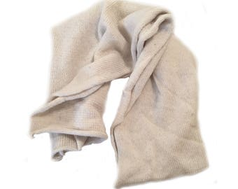 Extra long Natural wool scarf