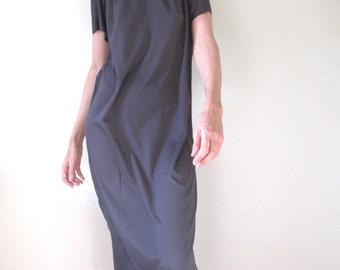 Short Sleeved Dress, Halter neck Dress, Loose fitting Dress, Maxi Dress, Summer Dress, made to order