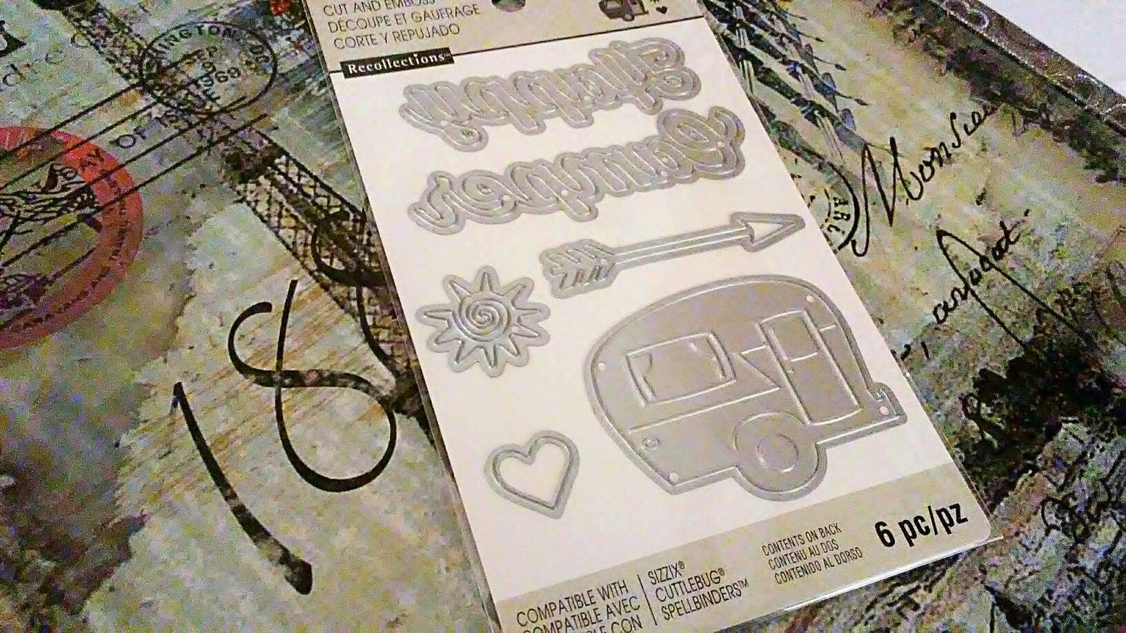 Recollections ~Happy Camper~ 6 pc. Crafting Cut and Emboss Templates ...