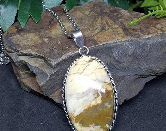 Picture Jasper vintage style pendant