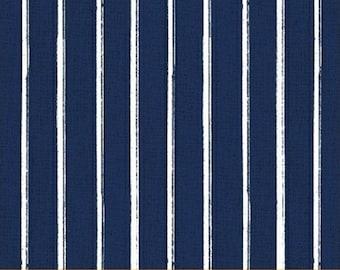 Half Yard Hidden Cove - Stripe in Navy Blue - Cotton Quilt Fabric - by Sue Schlabach for Windham Fabrics - 40434-2 (W3034)