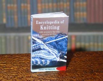 Dolls House Miniature Book - Encyclopedia of Knitting.
