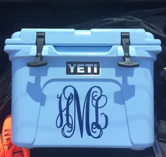 Yeti Roadie Cooler 3 Initial Vine Interlocking Personalized