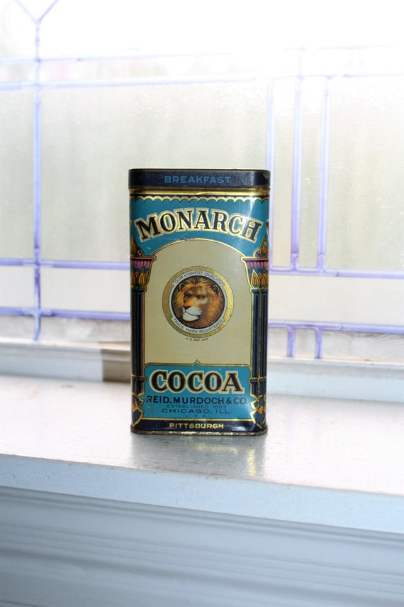 Vintage Monarch Cocoa Tin