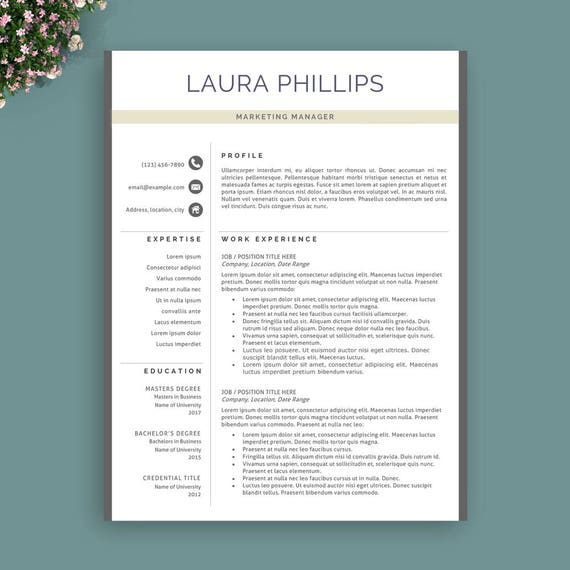 professional resume template instant download modern resume template creative resume template teacher resume template professional cv - It Professional Resume Template