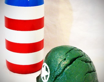 Handpainted US ARMY Military Helmet ROCK Pop Art