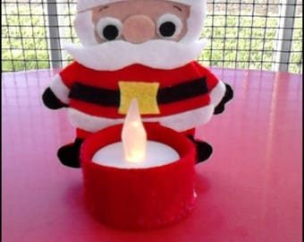 Santa Claus candle and LED