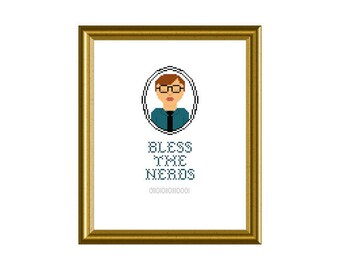 PDF PATTERN ONLY Bless the nerds - counted cross stitch pattern  8x10