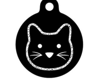 Pet ID Tag - Chalkboard Cat Pet Tag, Cat Tag