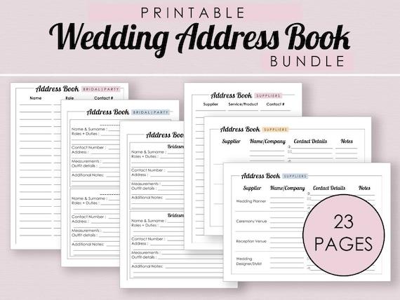 wedding address book