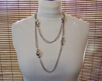 Vintage doublestrand silver necklace