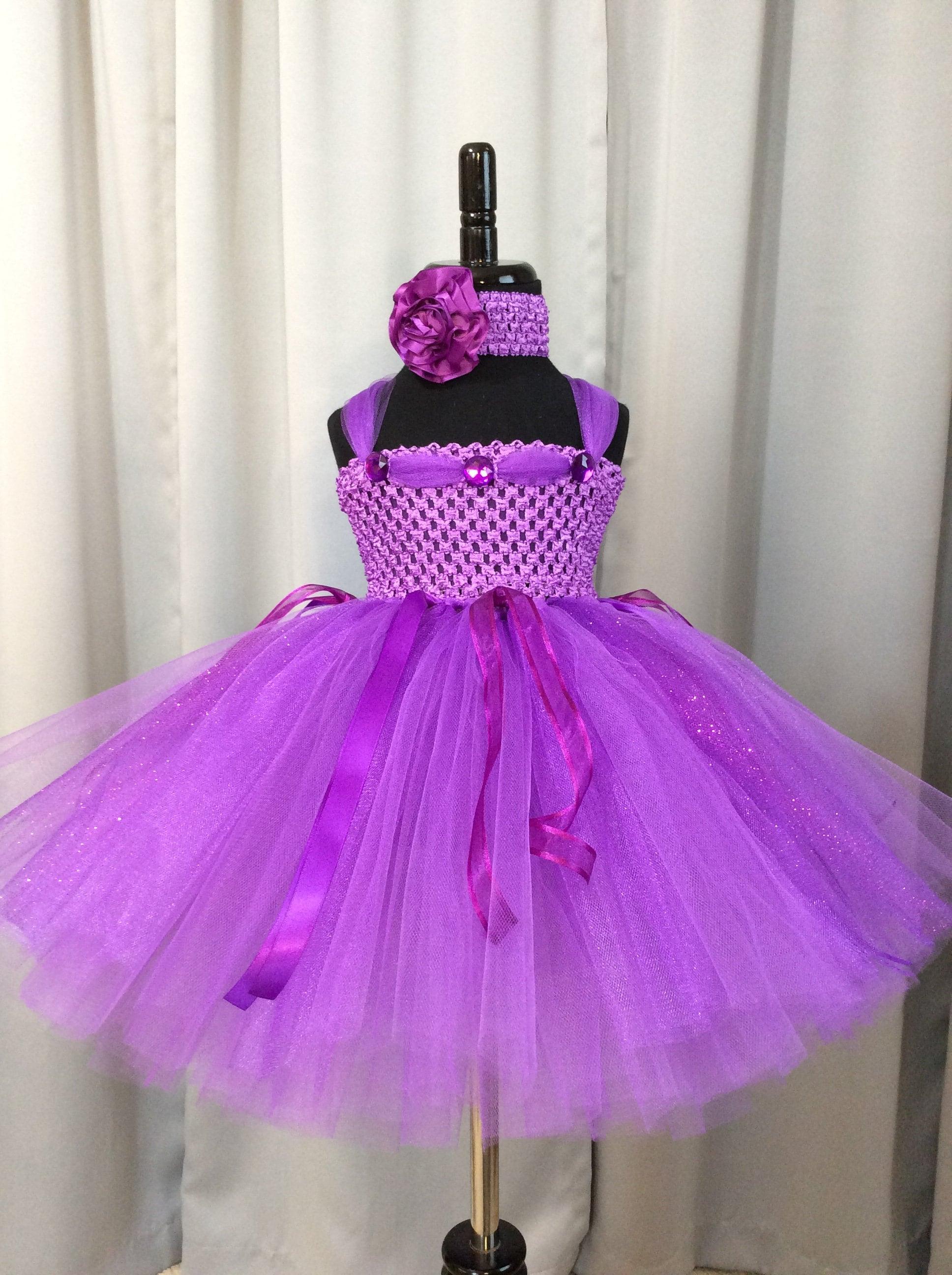 Purple princess dress little girl tutu infant tutu toddler tutu